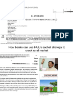 How Banks Can Use HUL's Sachet Strategy to Crack Rural Market - Firstpost