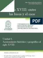 Unidad 0 Introducción y programa de clases Curso Siglo XVIII