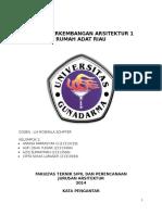 Tugas Perkembangan Arsitektur 1 Riau