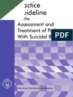 APA Suicide Guidelines