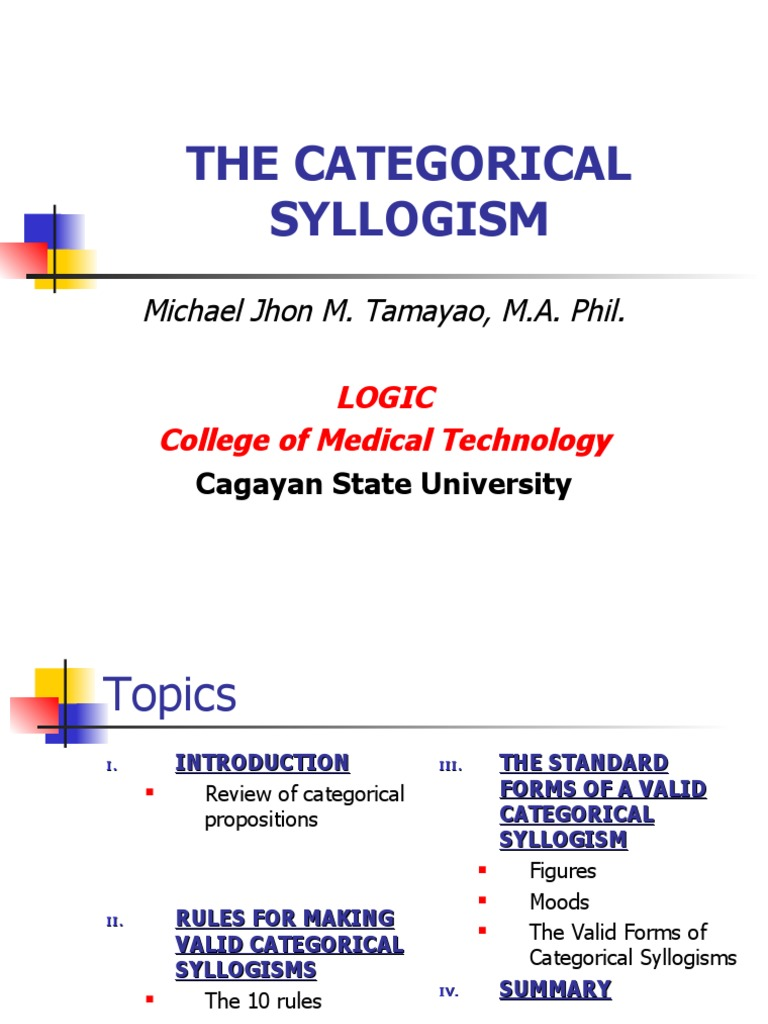The categorical syllogism validity epistemology pooptronica
