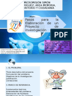 Pasos Para Realizar Un Proyecto de Investigacion Mtc-Vlp-pd-iatel-sp