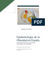 Epidemiologia de La Obesidad en Espa a Mat Docente 2015