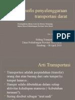 Filosofis Penyelenggaraan Transportasi Darat