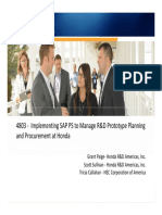 4803-Implementing SAP PS to Manage R&D Prototype Planning and Procurement at Honda