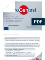"""Jean-Jacques Cassiman  """"Harmonization of Genetic testing within Europe, and towards the"""