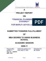 Financial Analysis - Maruti Udyog Limited