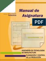 M.a. Planeacion y Control de La Produccion