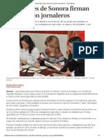 23-01-16 Industriales de Sonora firman acuerdo con jornaleros - Grupo Milenio