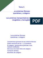 Tema 3. Proteínas Fibrosas y Globulares