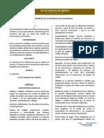 Ley de Tarjetas de Credito, Decreto 7-2015 (1)