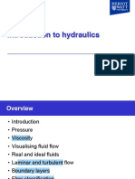 Presentation - Hydraulics 1 - Introduction to Hydraulics