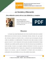 12. Redes Sociales y Educacion. Una Reflexion Acerca de Su Uso Didactico y Creativo