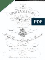 Giuliani - Op 60, 6 Variazioni