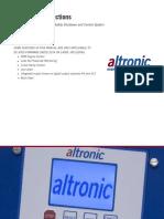 Instrucciones operación Panel Altronic de-3000
