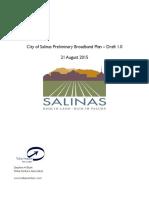 Salinas, CA Preliminary Broadband Plan