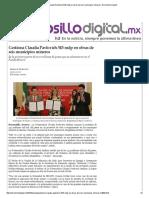 29-01-16 Gestiona Claudia Pavlovich 343 mdp en obras de seis municipios mineros - Hermosillo Digital