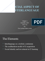 Ppt of Social Aspect of Interlanguage Chapter 4