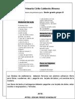 Lista de Utiles Escolares de Primaria Para Sexto Grado