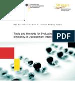 BMZ WP Tools Methods Evaluating Efficiency