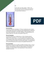 Escalas de Temperatura... Cris Sanchez
