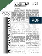 Lettre d'information de l'Association Petra Castellana