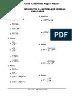 Álgebra Trigonometría - Leyes de Exponentes II - Sistemas de Medidas Angulares - 2