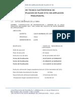 Informe de Ampliacion de Plazo calle francisco bolognesi