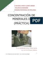 Guía de Practicas de Concentración de Minerales II