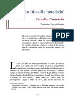 Castoriadis, Cornelius - La Filosofia Heredada