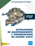 Actuaciones Cauces CHD 2005