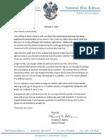 Wootton High School Letter