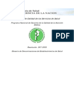 Resolucion Ms 267-2003 - Glosario Denominacion Est de Salud