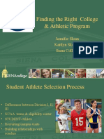 Finding the Right Athletic Program 2010