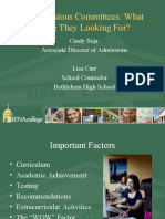 Admissions Committees