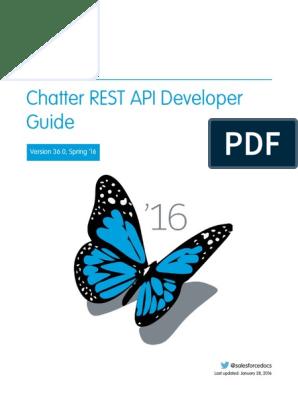 Salesforce Chatter Rest API | Representational State