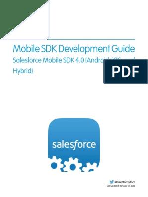 Mobile Sdk Developer Guide | Salesforce Com | Mobile App