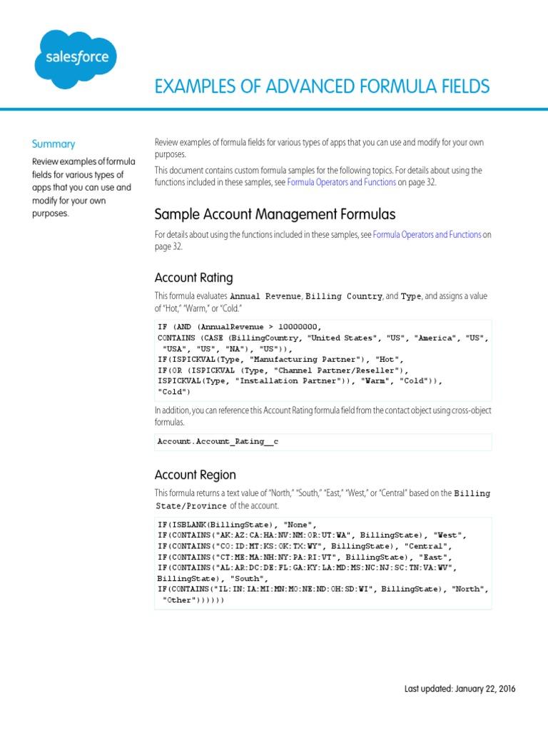 Salesforce Useful Formula Fields | Hyperlink | Discounting