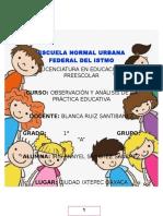 Evidencias del curso Observación y Análisis de la práctica educativa