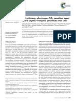 High Efficiency Electrospun TiO2 Nanofiber Based Hybrid Organic–Inorganic Perovskite Solar Cell