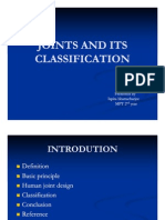 Joints and Its Classification