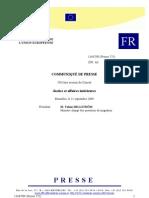 Compte rendu Conseil Européen JHA sept 2009