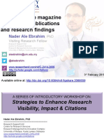 Publish online magazine to promote publications and research findings