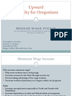 Median Wage Policy With OED Data