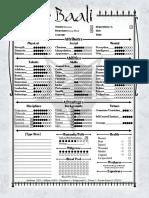 Baali character sheet
