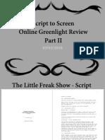Script to Screen OGR II