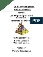 Trabajo de Investigación -10 Principios de La Economia y Piramide de Maslow