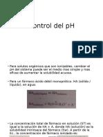 Control Del pH
