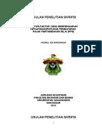 FAKTOR-FAKTOR YANG MEMPENGARUHI KETAATAN/KEPATUHAN PEMBAYARAN  PAJAK PERTAMBAHAN NILAI (PPN)