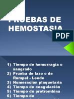 Pruebas de Hemostasia